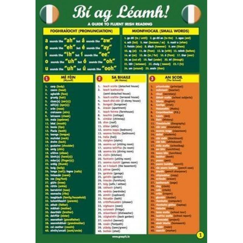 Bi ag Leamh -Glance Card